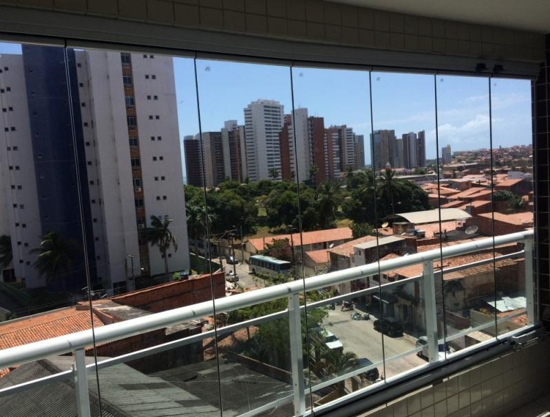 Cortinas de Vidro Deslizante Painel Fortaleza - Cortina de Vidro Deslizante para Porta