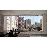cortina de vidro em l em Fortaleza