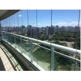 cortina em vidro deslizante para apartamento Caucaia