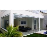 cortinas de vidro com trilho embutido Ceará