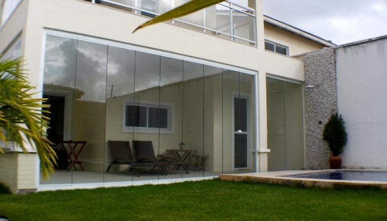 Cortina de Vidro com Trilho Embutido Fortaleza - Cortina de Vidro área Externa