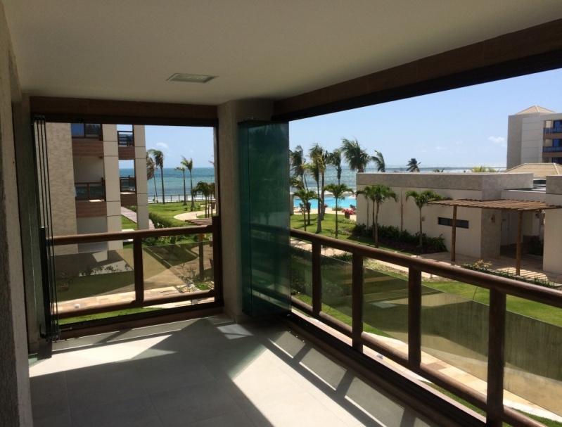 Cortina de Vidro Deslizante para Apartamento Ceará - Cortina de Vidro Deslizante sob Medida