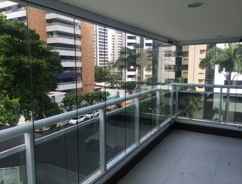 Cortina de Vidro para Apartamento Preço Ceará - Cortina de Vidro Deslizante