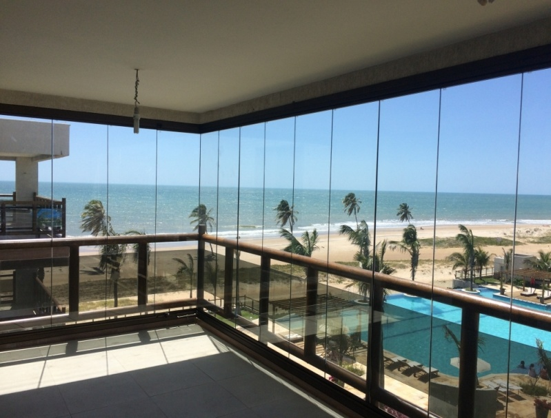 Cortina em Vidro Deslizante para Apartamento Preço Fortaleza - Cortinas de Vidro Deslizante para Sacada