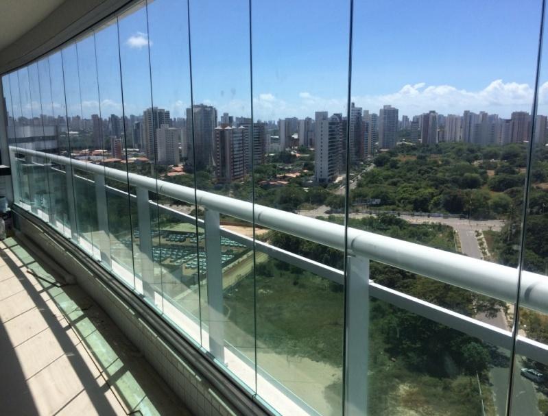 Cortina em Vidro Deslizante para Apartamento Fortaleza - Cortina em Vidro Deslizante sob Medida