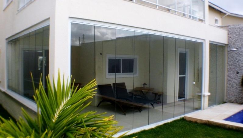 Cortinas de Vidro com Trilho Embutido Fortaleza - Cortina de Vidro área Externa