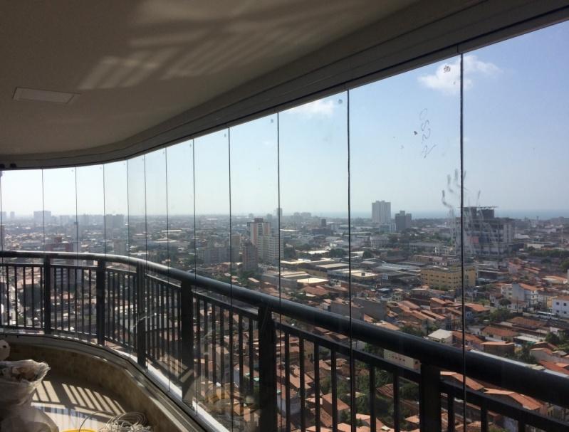 Cortinas de Vidro na Varanda Fortaleza - Cortina de Vidro com Trilho Embutido