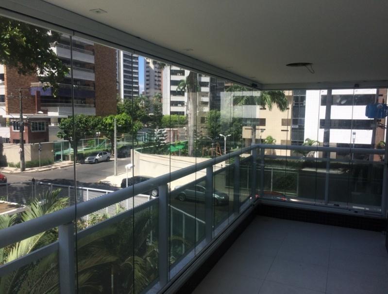 Cortinas em Vidro Deslizante sob Medida Ceará - Cortina de Vidro Temperado Deslizante