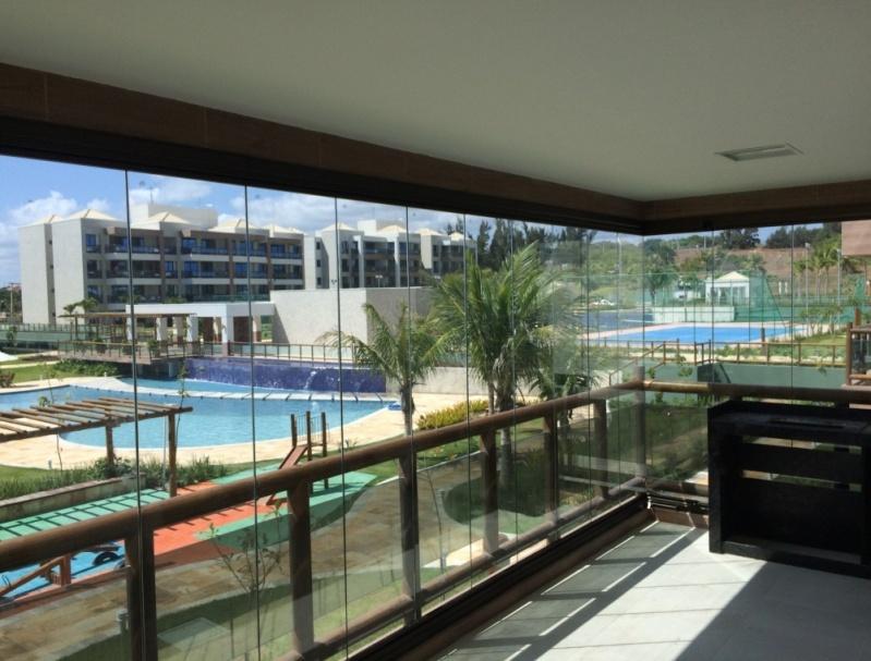 Orçamento de Cortina de Vidro Acústica Fortaleza - Cortina de Vidro em Varanda