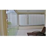 cortina de vidro com trilho embutido preço Caucaia