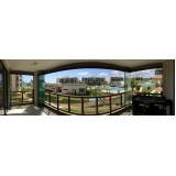 cortinas de vidro deslizante para apartamento Ceará