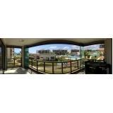 cortinas de vidro deslizante para apartamento Fortaleza