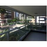 cortinas de vidro em sacada Fortaleza