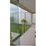 cortina de vidro automática