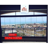 empresa de envidraçamento para varanda de apartamento com vidro Ceará