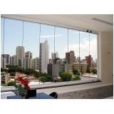 cortina de vidro curva
